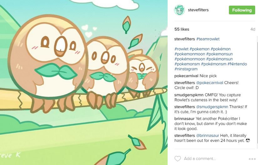 Pokemon Owlets - Instagram